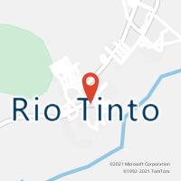 Mapa com localização da Agência AC RIO TINTO