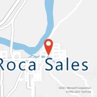 Mapa com localização da Agência AC ROCA SALES