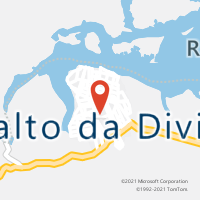 Mapa com localização da Agência AC SALTO DA DIVISA