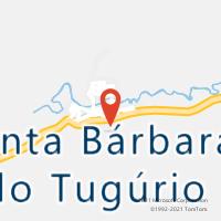 Mapa com localização da Agência AC SANTA BARBARA DO TUGURIO