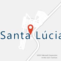 Mapa com localização da Agência AC SANTA LUCIA