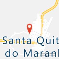 Mapa com localização da Agência AC SANTA QUITERIA DO MARANHAO