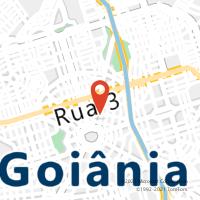 Mapa com localização da Agência AC SANTA RITA DO ARAGUAIA