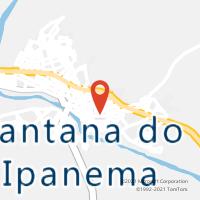 Mapa com localização da Agência AC SANTANA DO IPANEMA