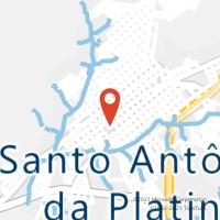 Mapa com localização da Agência AC SANTO ANTONIO DA PLATINA