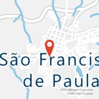 Mapa com localização da Agência AC SAO FRANCISCO DE PAULA