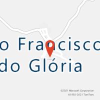 Mapa com localização da Agência AC SAO FRANCISCO DO GLORIA