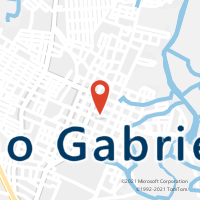 Mapa com localização da Agência AC SAO GABRIEL
