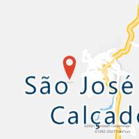 Mapa com localização da Agência AC SAO JOSE DO CALCADO