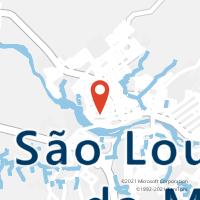 Mapa com localização da Agência AC SAO LOURENCO DA MATA