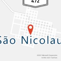 Mapa com localização da Agência AC SAO NICOLAU