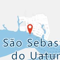 Mapa com localização da Agência AC SAO SEBASTIAO DO UATUMA