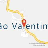 Mapa com localização da Agência AC SAO VALENTIM