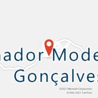 Mapa com localização da Agência AC SENADOR MODESTINO GONCALVES