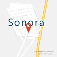 Mapa com localização da Agência AC SONORA