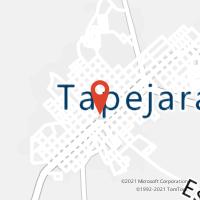 Mapa com localização da Agência AC TAPEJARA