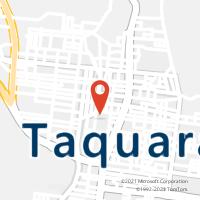 Mapa com localização da Agência AC TAQUARA