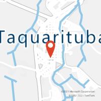 Mapa com localização da Agência AC TAQUARITUBA