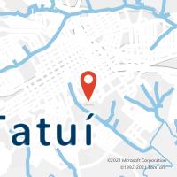 Mapa com localização da Agência AC TATUI