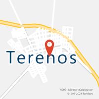 Mapa com localização da Agência AC TERENOS