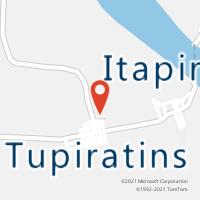 Mapa com localização da Agência AC TUPIRATINS