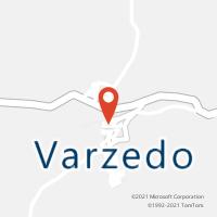 Mapa com localização da Agência AC VARZEDO