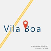 Mapa com localização da Agência AC VILA BOA