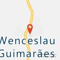 Mapa com localização da Agência AC WENCESLAU GUIMARAES