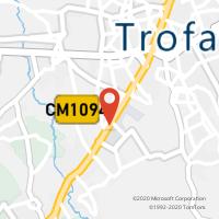 Mapa com localização da Loja CTTAEBA (TROFA) (Fechada)