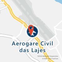 Mapa com localização da Loja CTTAEROPORTO DAS LAGES (TERCEIRA)