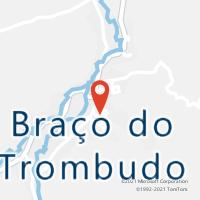 Mapa com localização da Agência AGC BRACO DO TROMBUDO