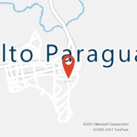 Mapa com localização da Agência AGC CAPAO VERDE