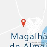 Mapa com localização da Agência AGC CUSTODIO LIMA