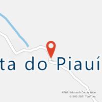 Mapa com localização da Agência AGC FLORESTA DO PIAUI