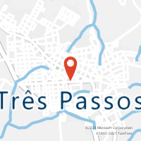 Mapa com localização da Agência AGC FLORESTA TRES PASSOS