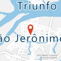 Mapa com localização da Agência AGC GRAMAL