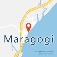 Mapa com localização da Agência AGC PEROBA