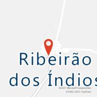 Mapa com localização da Agência AGC RIBEIRAO DOS INDIOS