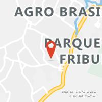 Mapa com localização da Agência AGC SAMBAETIBA