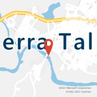 Mapa com localização da Agência AGC SANTA RITA/SERRA TALHADA