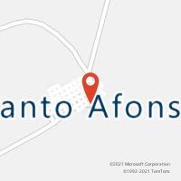 Mapa com localização da Agência AGC SANTO AFONSO