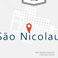 Mapa com localização da Agência AGC SANTO IZIDRO