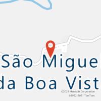 Mapa com localização da Agência AGC SAO MIGUEL DA BOA VISTA