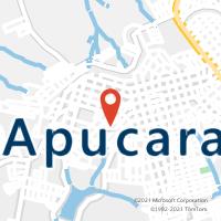 Mapa com localização da Agência AGC SAO PEDRO