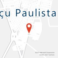 Mapa com localização da Agência AGC SAPEZAL