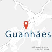 Mapa com localização da Agência AGC SAPUCAIA DE GUANHAES