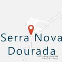 Mapa com localização da Agência AGC SERRA NOVA DOURADA