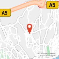 Mapa com localização da Loja CTTAgente Payshop - Café Carlos