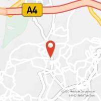 Mapa com localização da Loja CTTAgente Payshop - Café Kim Kim