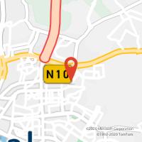 Mapa com localização da Loja CTTAgente Payshop - Papelaria Barranquinho (Fechada)